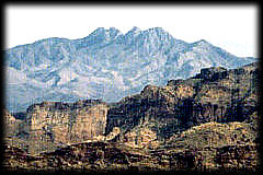 Four Peaks, near Phoenix, Arizona-- source of Arizona's vivid amethyst.
