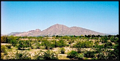 Camelback Mountain, in Phoenix, Arizona.