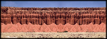 Sedimentary rock formations on the Colorado Plateau.