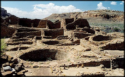 Ruins at Chaco Canyon, New Mexico.