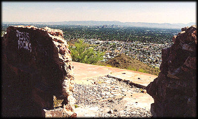 Downtown Phoenix, Arizona, from the ruins of Cloud Nine.