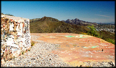 The now-deserted deck of Cloud Nine, in the Phoenix Mountains Preserve.