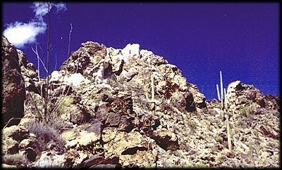 A pegmatite in the Sierra Estrella, southwest of Phoenix, Arizona.
