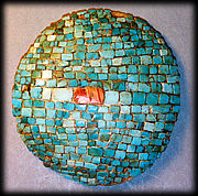 Tesserae-style turquoise and shell jewelry.
