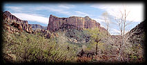 Battleship Mountain, in Central Arizona.
