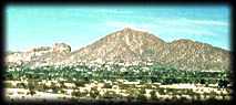 Camelback Mountain, from Papago Park, in Phoenix, looking north.
