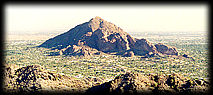 Camelback Mountain, from Squaw Peak, in Phoenix, looking north.