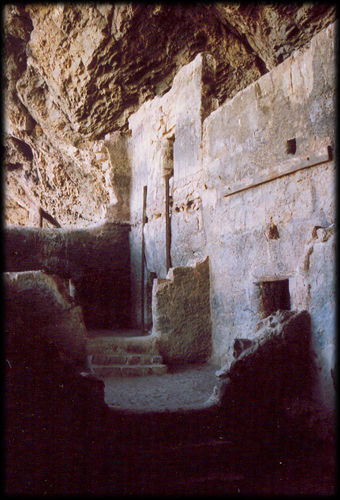 What If People From Different Cultures >> Rooms of the cliff dwellings at Tonto National Monument, in the eastern Superstition Mountains ...